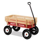 Radio Flyer All-Terrain Steel and Wood Wagon, Multicolor