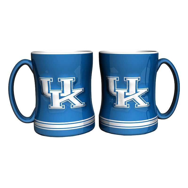 Kentucky Wildcats 2-pc. Relief Coffee Mug Set