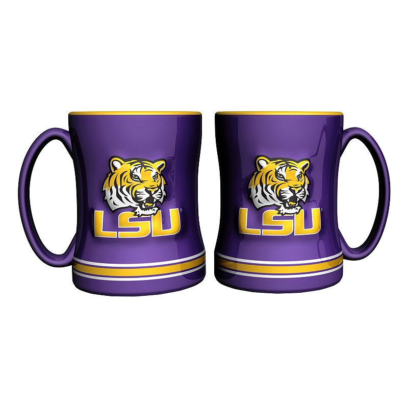 LSU Tigers 2-pc. Relief Coffee Mug Set