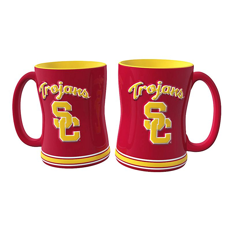 USC Trojans 2-pc. Relief Coffee Mug Set
