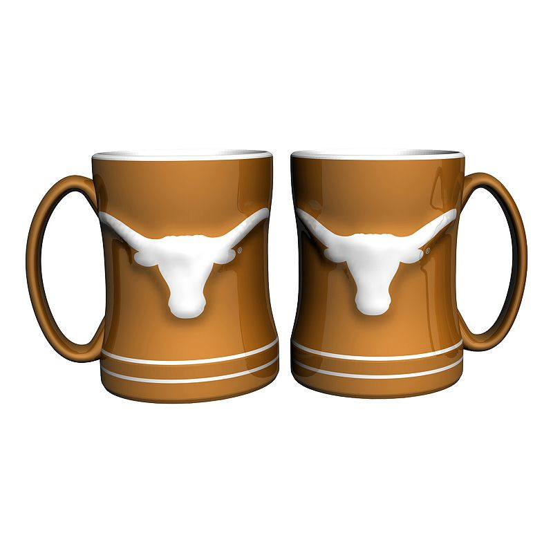 Texas Longhorns 2-pc. Relief Coffee Mug Set