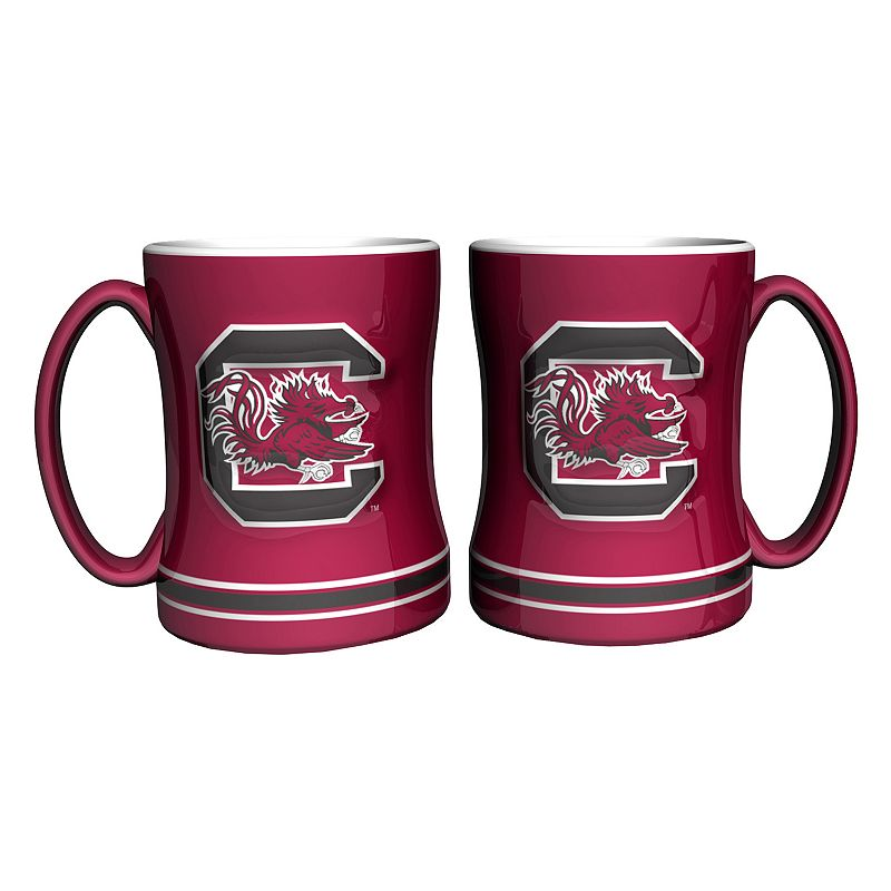 South Carolina Gamecocks 2-pc. Relief Coffee Mug Set
