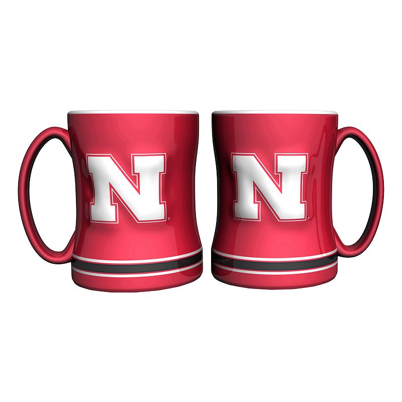 Nebraska Cornhuskers 2-pc. Relief Coffee Mug Set