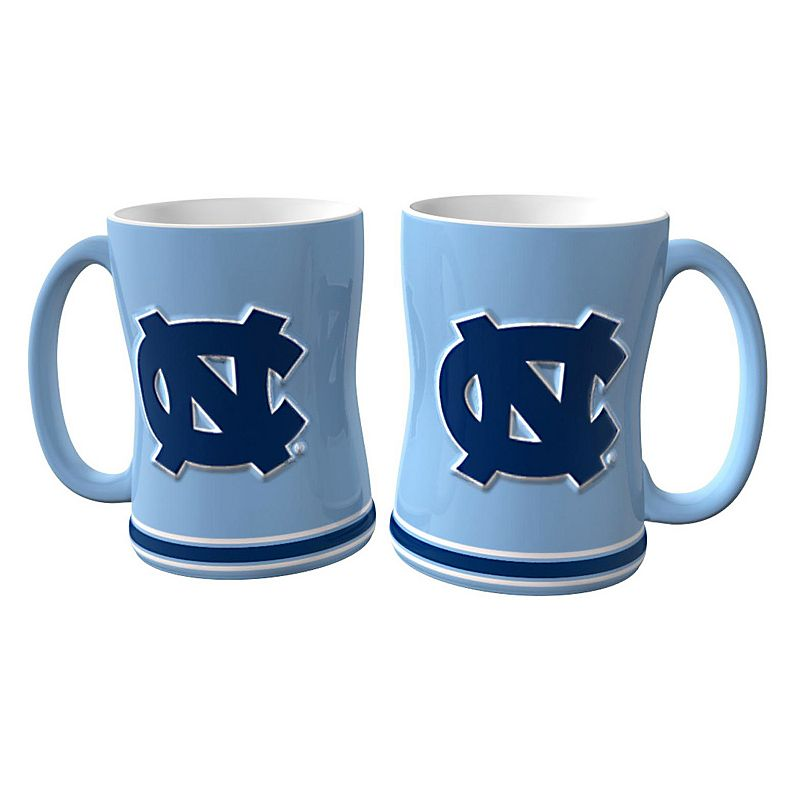 North Carolina Tar Heels 2-pc. Relief Coffee Mug Set