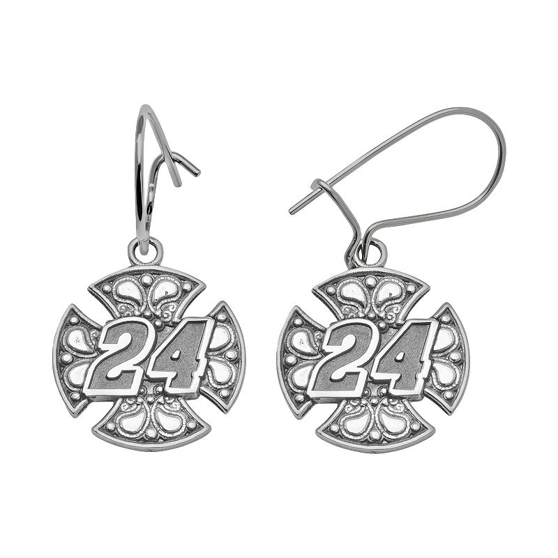 Insignia Collection NASCAR Jeff Gordon Sterling Silver 24 Drop Earrings