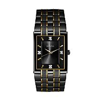 Bulova Men's Diamond Two Tone Stainless Steel Watch - 98D004