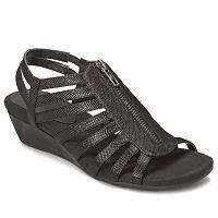 A2 by Aerosoles Yetaway Women's Zip-Up Wedge Sandals