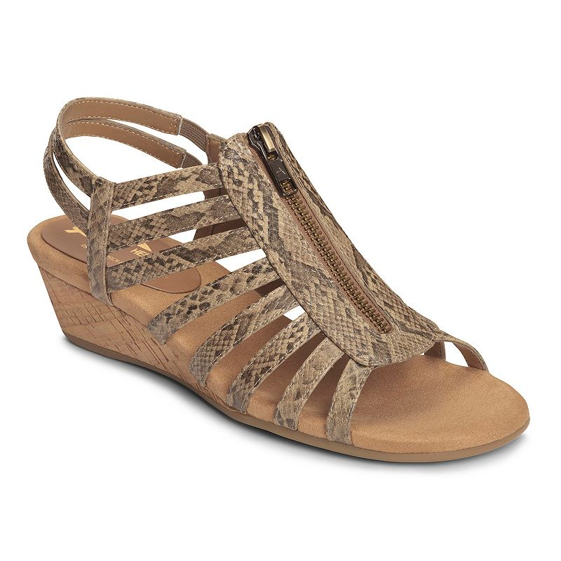 A2 by Aerosoles Yetaway Women's Zip-Up Wedge Sandals