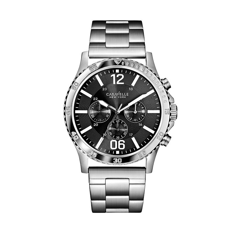 Caravelle New York by Bulova Men's Stainless Steel Chronograph Watch - 43A115