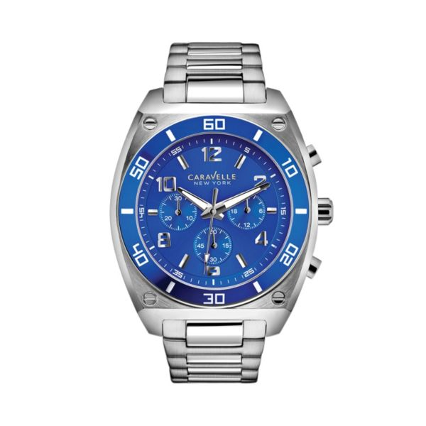 Caravelle New York by Bulova Men's Stainless Steel Chronograph Watch