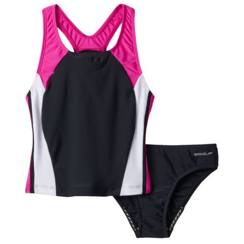 Girls 7-16 Speedo Performance 2-pc. Tankini Set