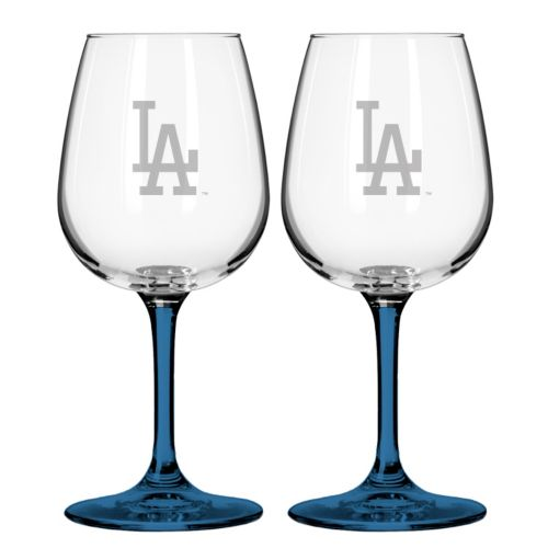 Los Angeles Dodgers 2-Piece Wine Glass Set