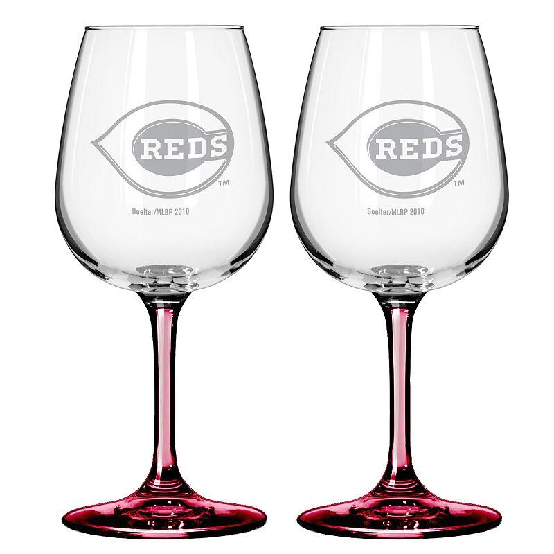 Cincinnati Reds 2-Piece Wine Glass Set