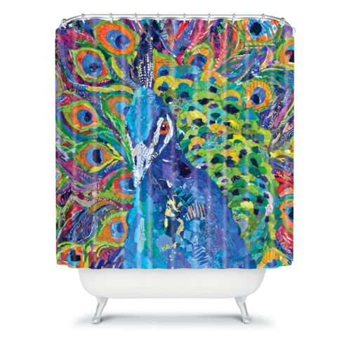 DENY Designs Elizabeth St Hilaire Nelson Cacophony of Color Fabric Shower Curtain