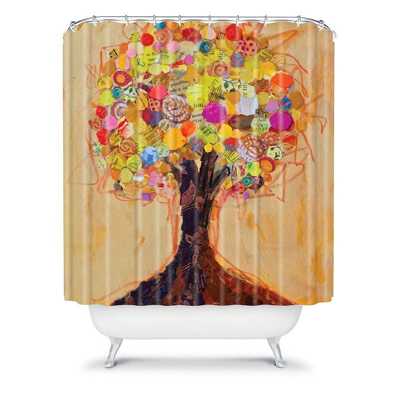 DENY Designs Elizabeth St Hilaire Nelson Summer Tree Fabric Shower Curtain