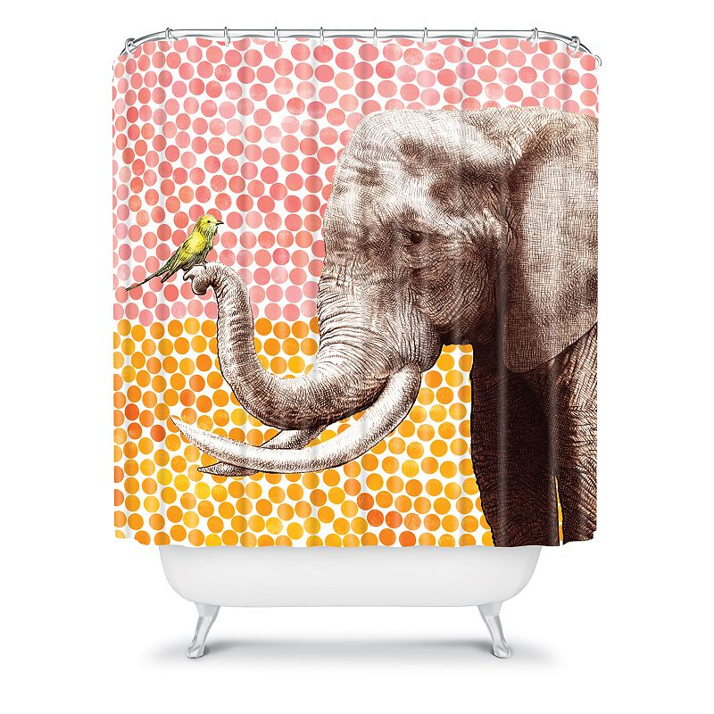DENY Designs Garima Dhawan New Friends 2 Fabric Shower Curtain
