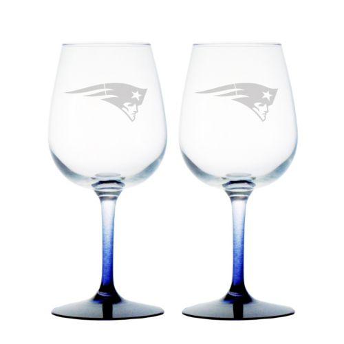 New EnglandPatriots 2-pc. Wine Glass Set