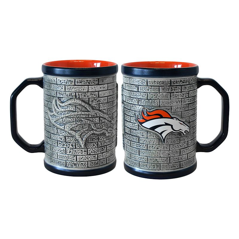Denver Broncos 2-pc. Stonewall Coffee Mug Set