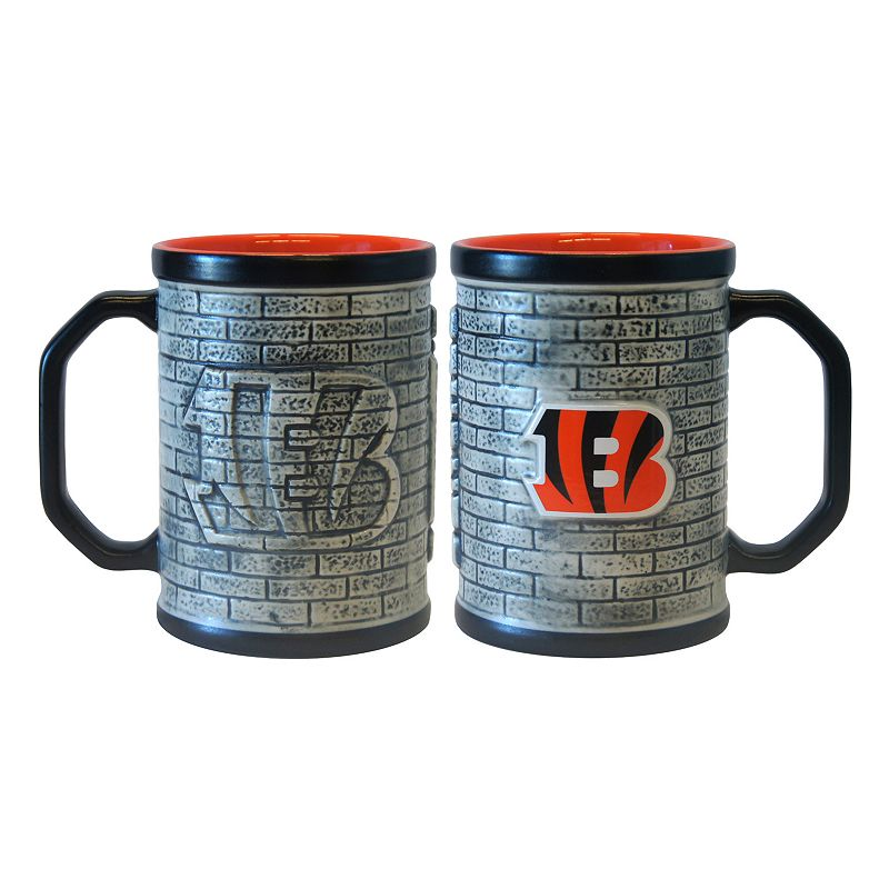 Cincinnati Bengals 2-pc. Stonewall Coffee Mug Set
