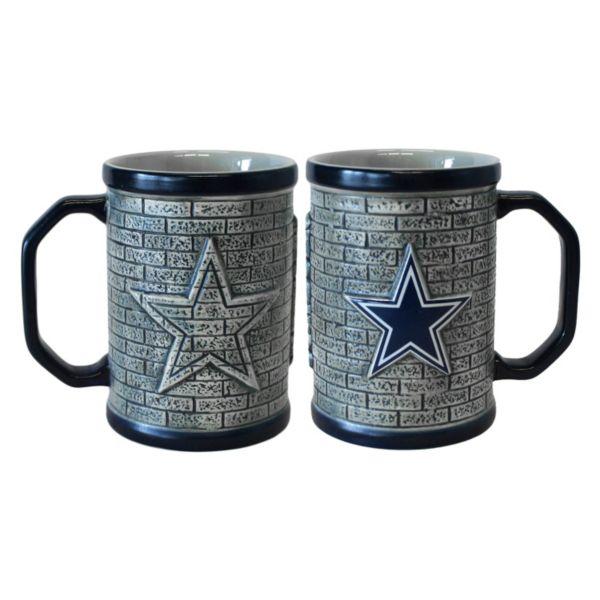 Dallas Cowboys 2-pc. Stonewall Coffee Mug Set