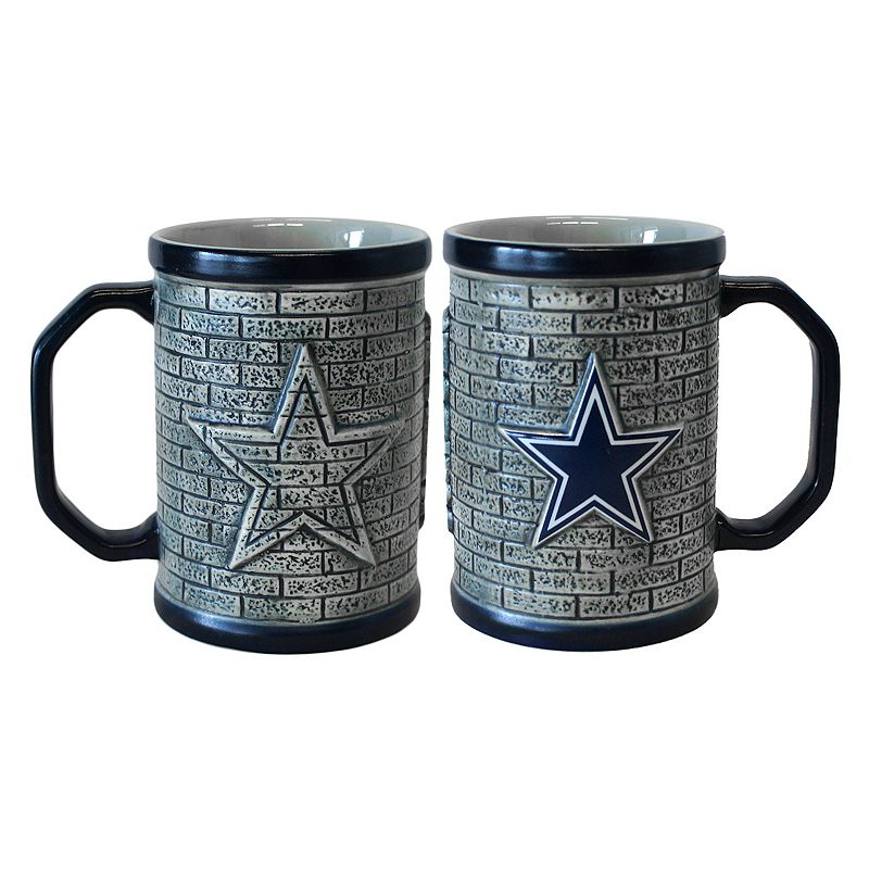 Dallas Cowboys 2-pc. Stonewall Coffee Mug Set