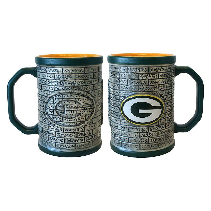 Green Bay Packers 2-pc. Stonewall Coffee Mug Set