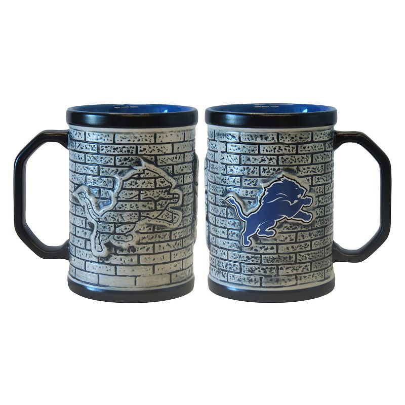 Detroit Lions 2-pc. Stonewall Coffee Mug Set