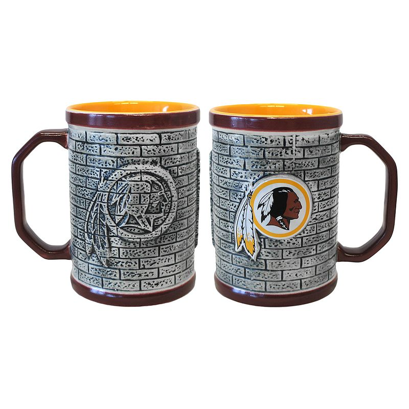 Washington Redskins 2-pc. Stonewall Coffee Mug Set
