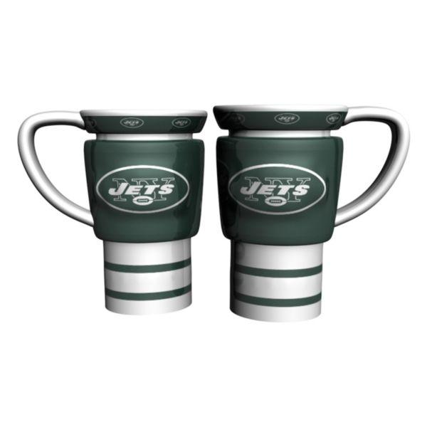 New York Jets 2-pc. Travel Coffee Mug Set