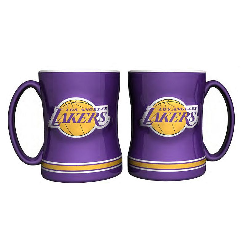 Los Angeles Lakers 2-pc. Relief Coffee Mug Set