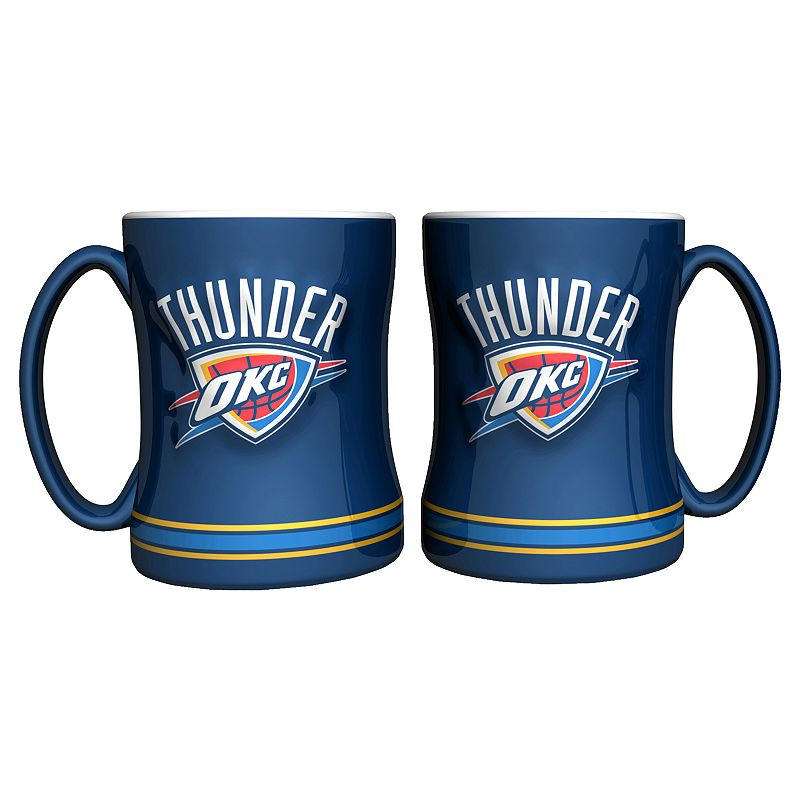 Oklahoma City Thunder 2-pc. Relief Coffee Mug Set
