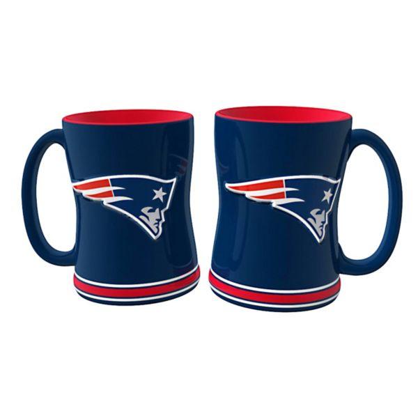 New EnglandPatriots 2-pc. Relief Coffee Mug Set