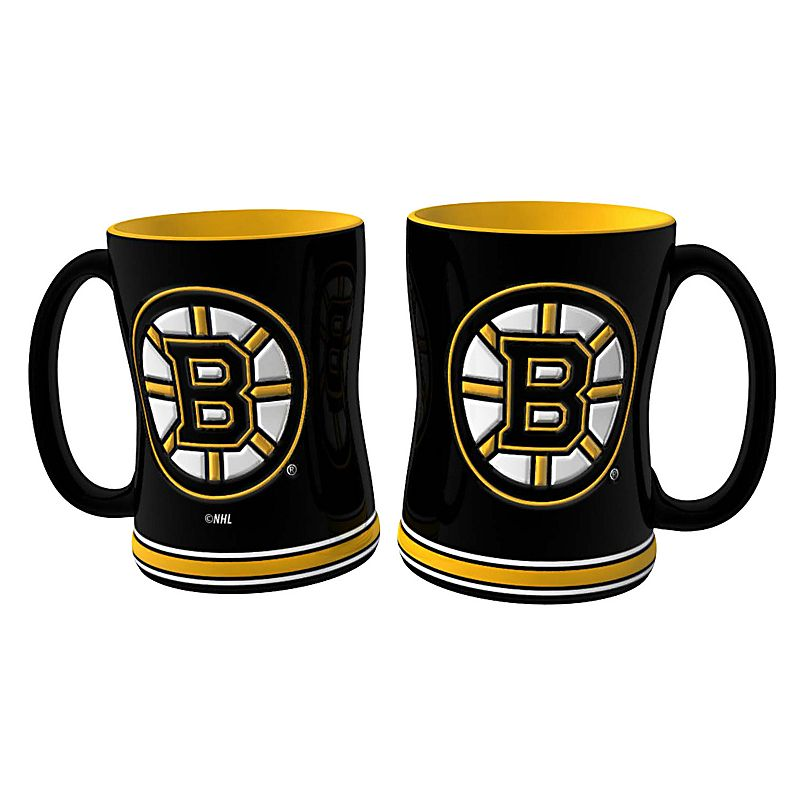 Boston Bruins 2-pc. Relief Coffee Mug Set
