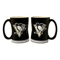Pittsburgh Penguins 2-pc. Relief Coffee Mug Set