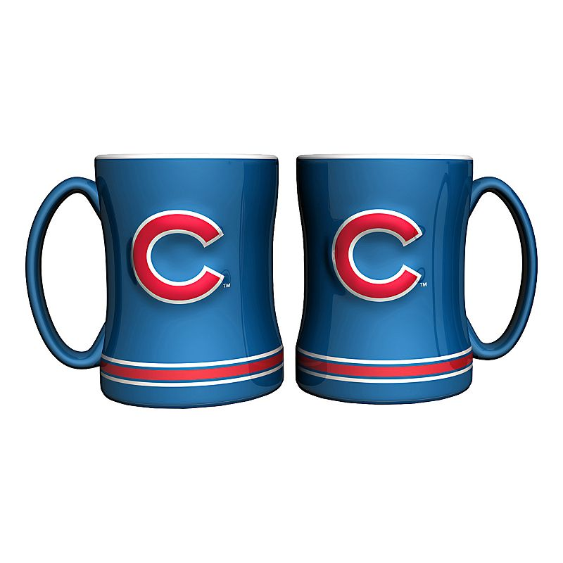 Chicago Cubs 2-pc. Relief Coffee Mug Set