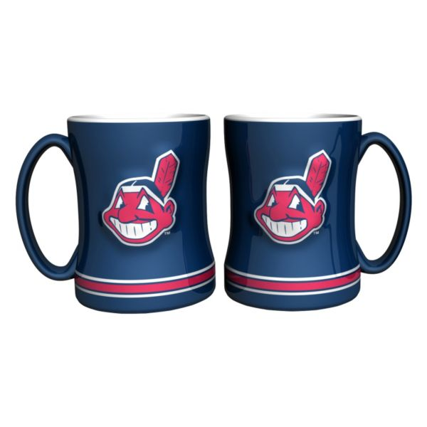 Cleveland Indians 2-pc. Relief Coffee Mug Set