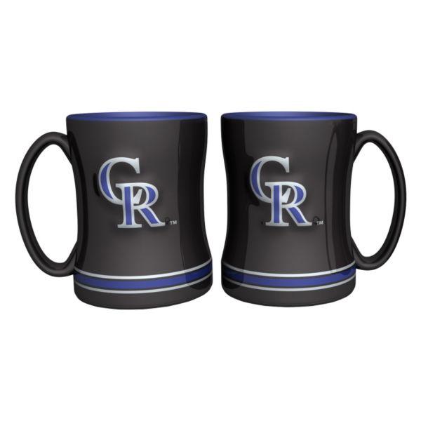 Colorado Rockies 2-pc. Relief Coffee Mug Set