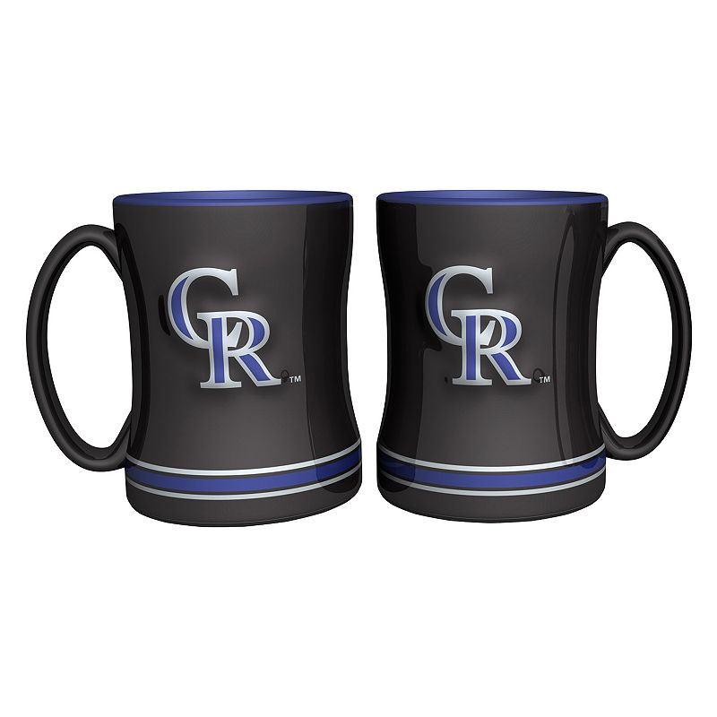 Colorado Rockies 2-pc. Relief Coffee Mug Set
