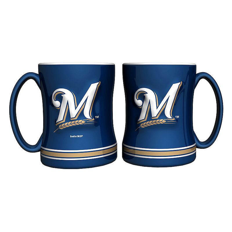 Milwaukee Brewers 2-pc. Relief Coffee Mug Set