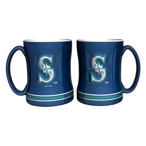 Seattle Mariners 2-pc. Relief Coffee Mug Set