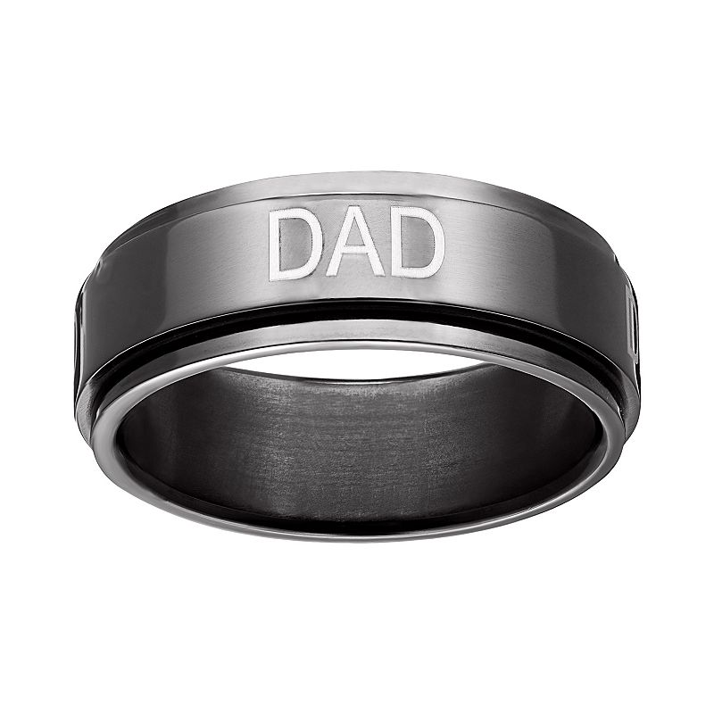 Black Ion-Plated Titanium Dad Spinner Band - Men