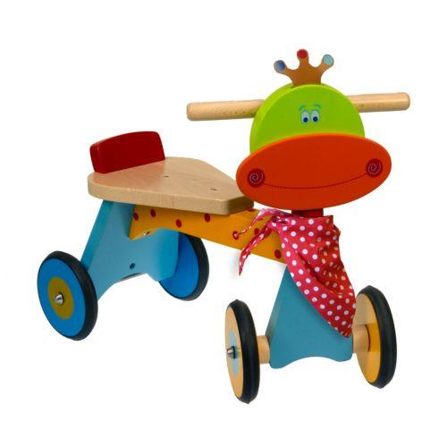Dushi 4-Wheel Wooden Walking Bike