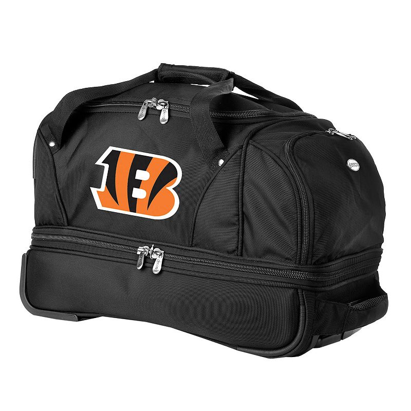 Cincinnati Bengals 22-in. Wheeled Drop-Bottom Duffel Bag