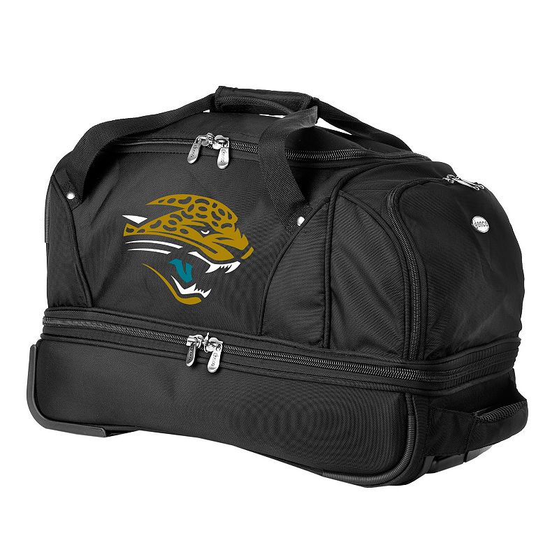 Jacksonville Jaguars 22-in. Wheeled Drop-Bottom Duffel Bag