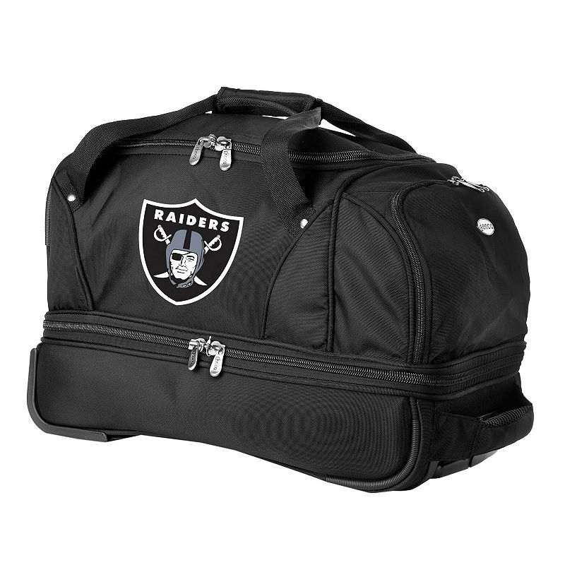 Oakland Raiders 22-in. Wheeled Drop-Bottom Duffel Bag