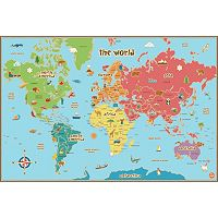 WallPops World Kids Map Wall Decal