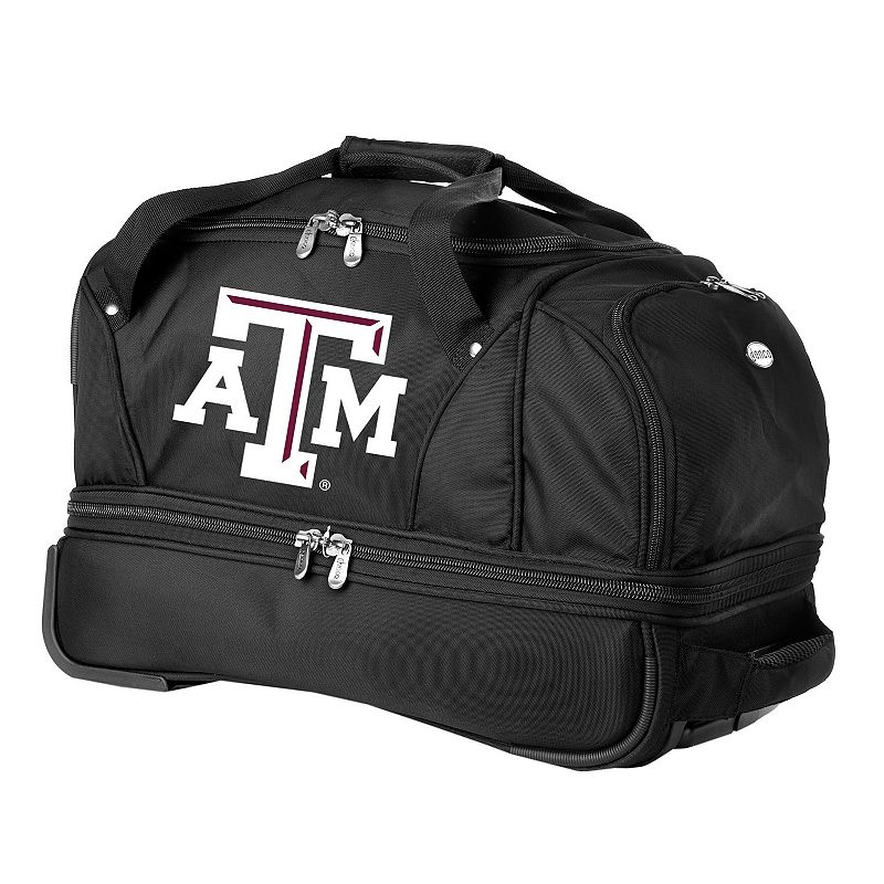 Texas A and M Aggies 22-in. Wheeled Drop-Bottom Duffel Bag