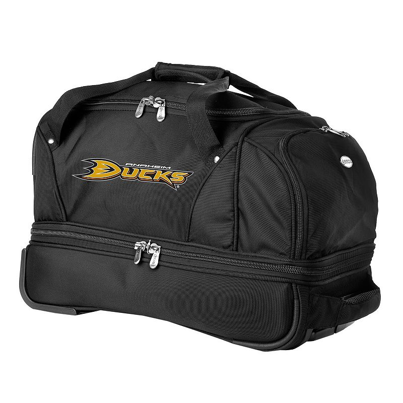Anaheim Mighty Ducks 22-in. Wheeled Drop-Bottom Duffel Bag