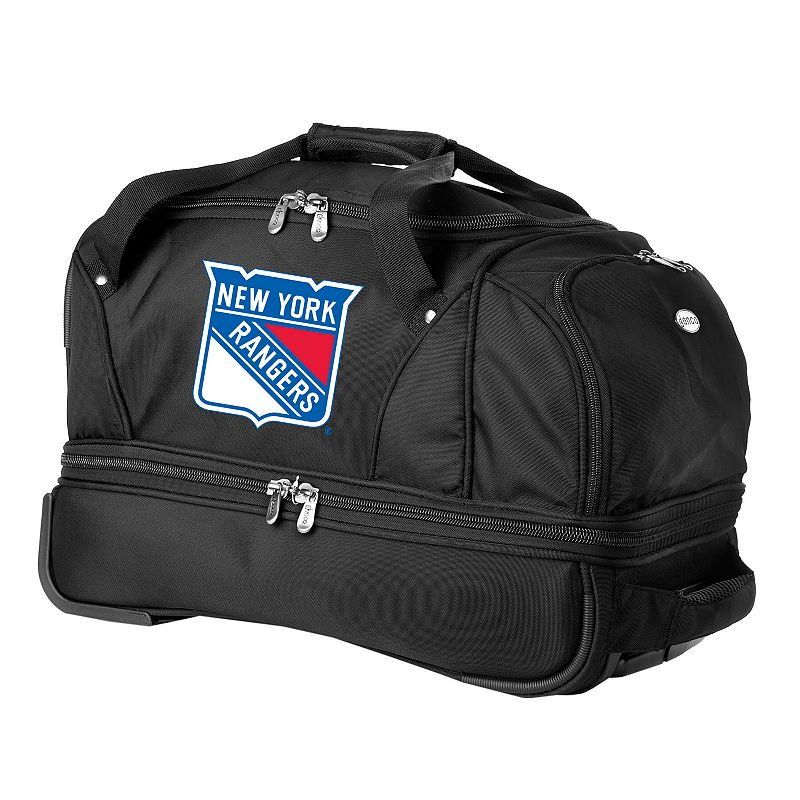 New York Rangers 22-in. Wheeled Drop-Bottom Duffel Bag