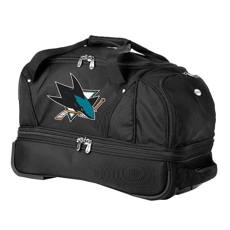 San Jose Sharks 22-in. Wheeled Drop-Bottom Duffel Bag